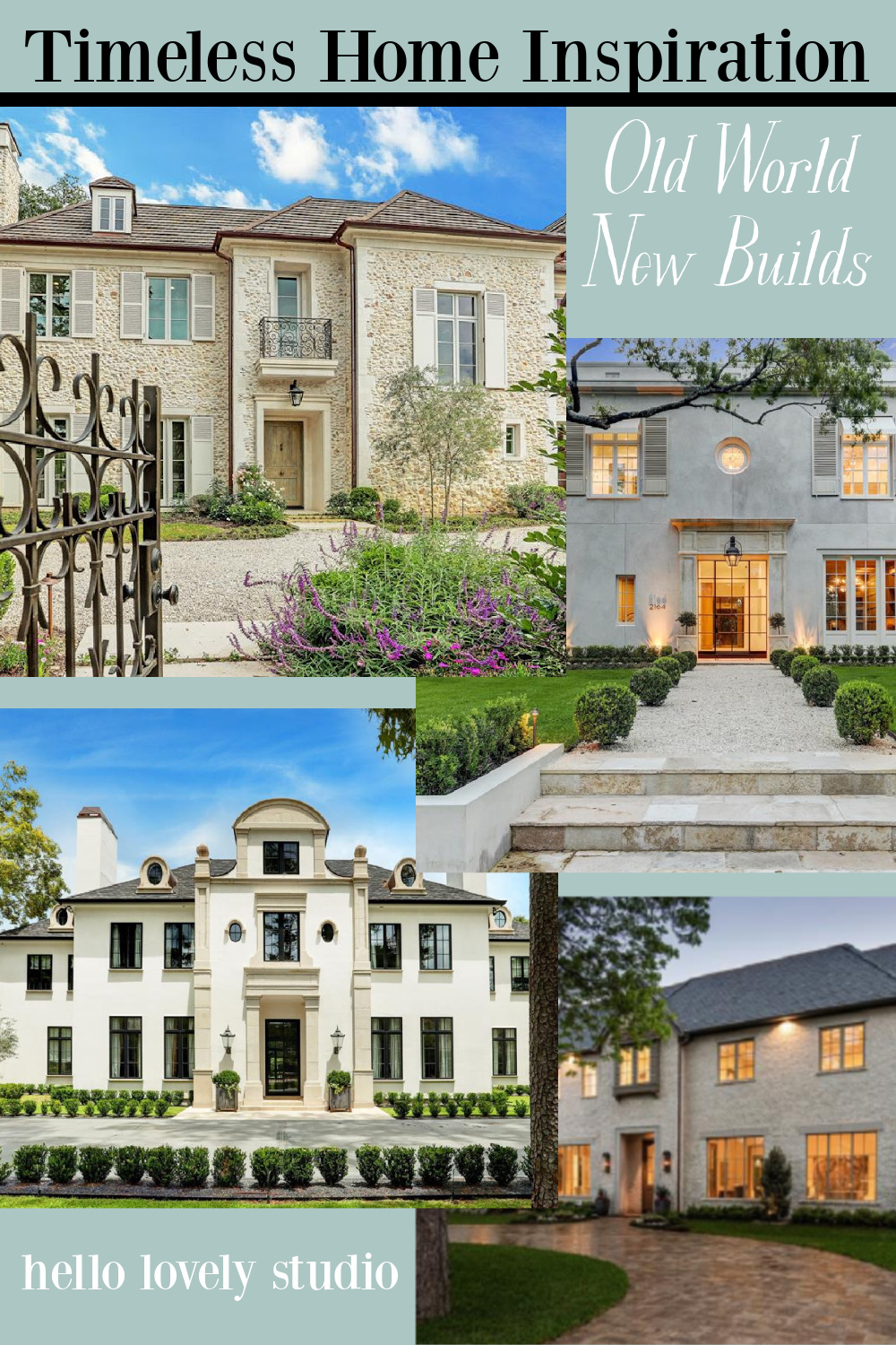 Timeless home inspiration - old world new builds is an inspiring tour of European inspired interiors with exceptional craftsmanship and authenticity. #hellolovelystudio #newconstruction #housedesign #interiordesign #oldworldstyle #frenchcountry