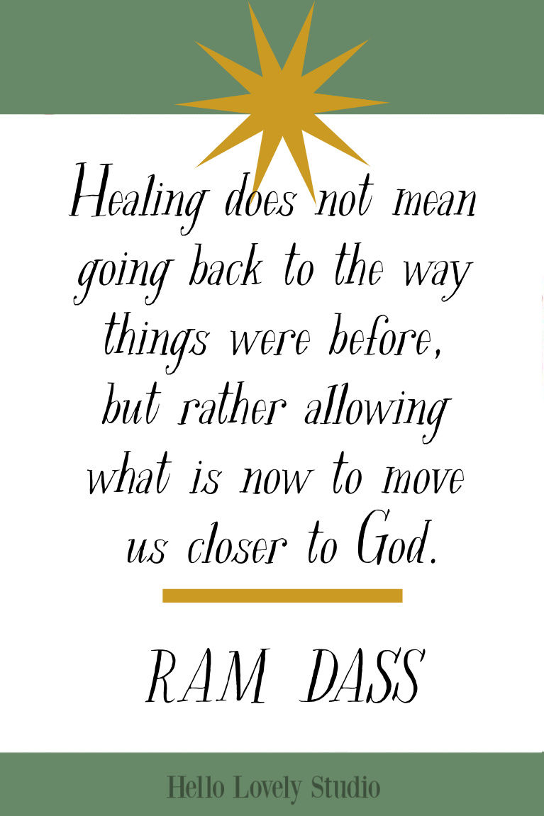 Ram Dass healing quote to inspire on Hello Lovely Studio. #inspirationalquotes #ramdass #healingquotes #faithquotes