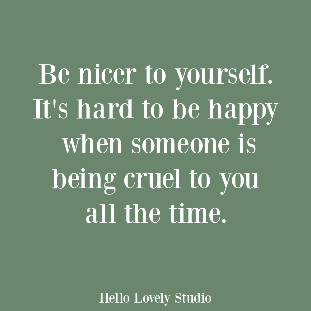 Self-care quote on Hello Lovely. #selfcarequotes #selflove #encouragementquotes