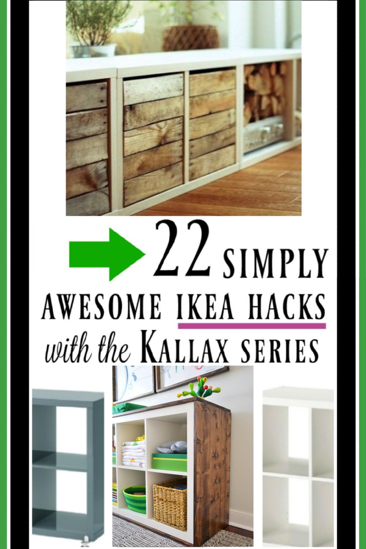 22 Kallax Hacks for inspiration! #kallaxhack #ikeahacks