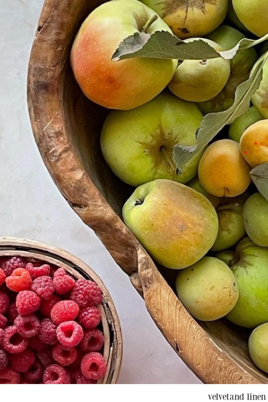Patina Farm harvested fruit - Velvet and Linen