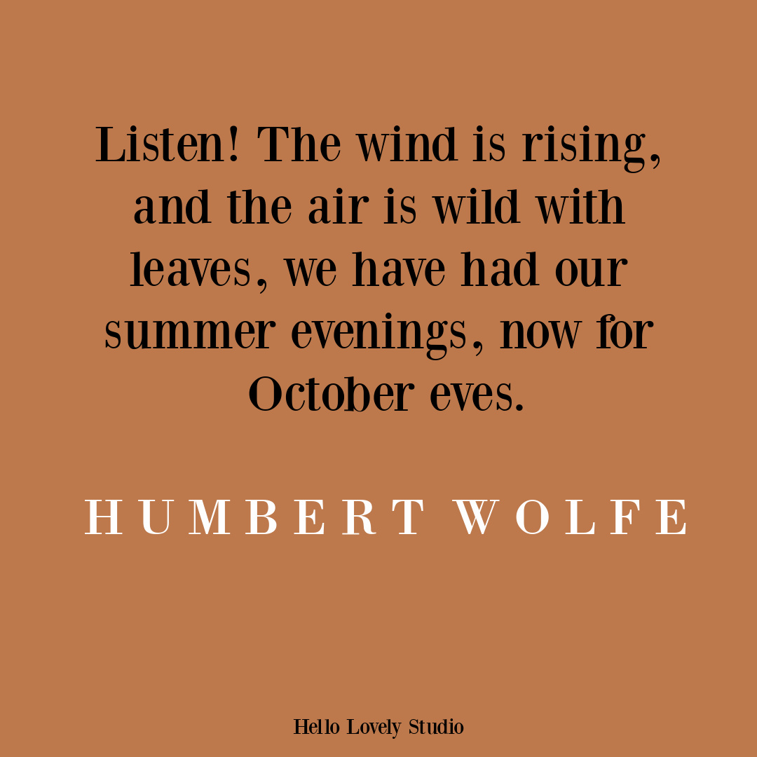 Fall quote about October on Hello Lovely. #autumnquotes #fallquote
