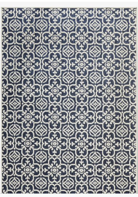 Blue tile area rug - The Company Store