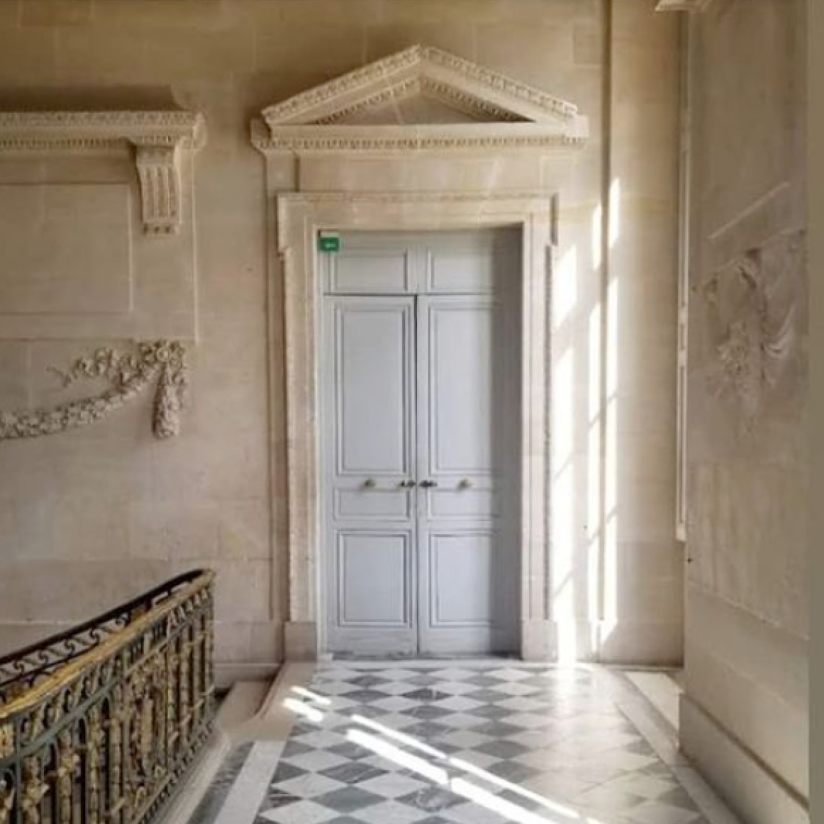 Magnificent stone and architecture inside Chateau Versailles - The French Nest Co Interior Design. #petittrianon #chateauversaiiles #oldworldstyle #frenchcountry