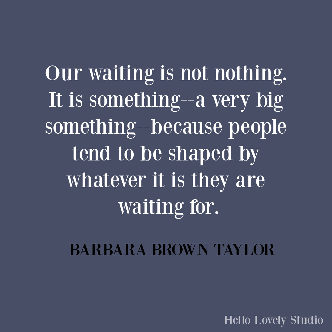 Meaningful Christmas inspirational quote on Hello Lovely from Barbara Brown Taylor. #christmasquote #barbarabrowntaylor #faithquotes