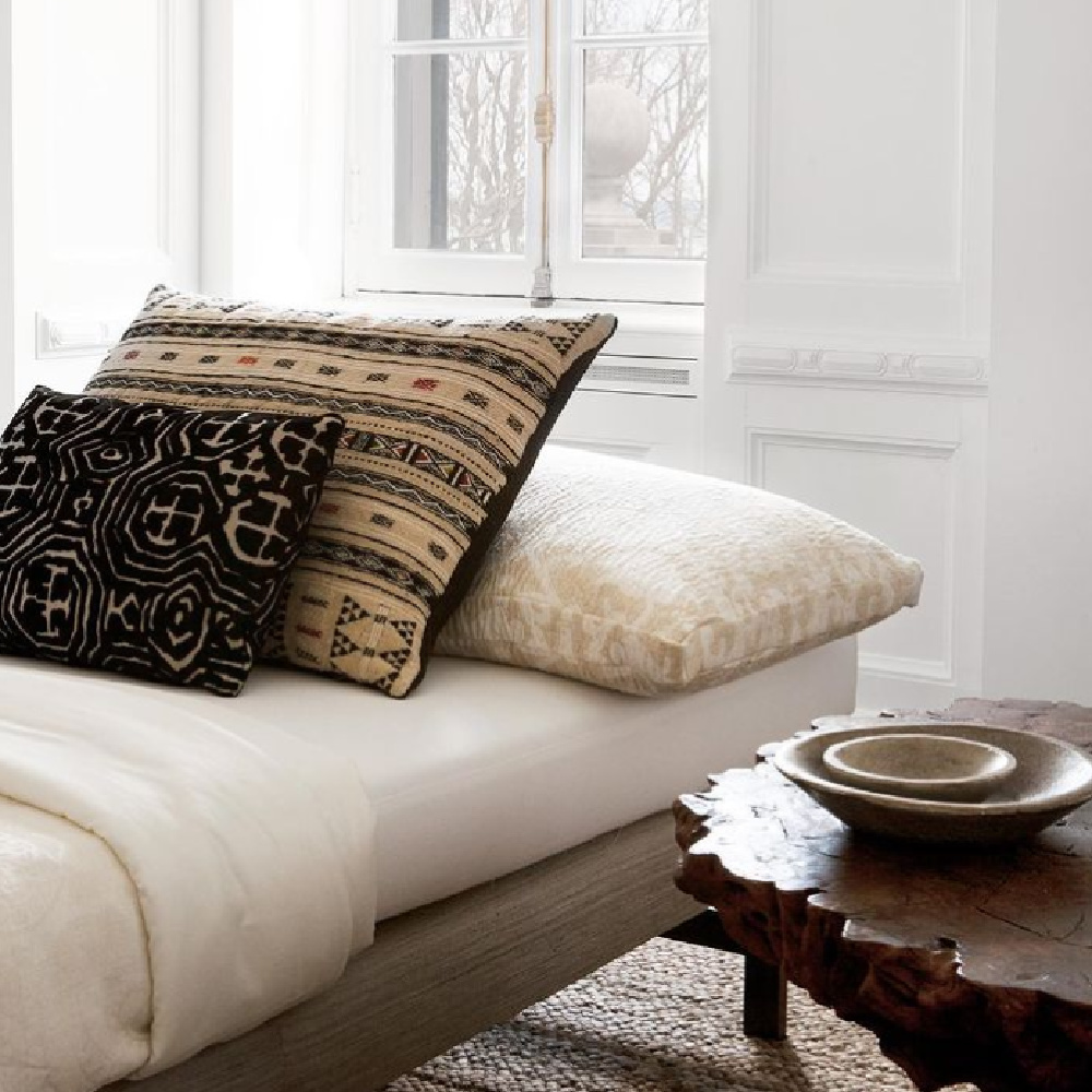 Modern rustic daybed and organic side table - Michael Del Piero.