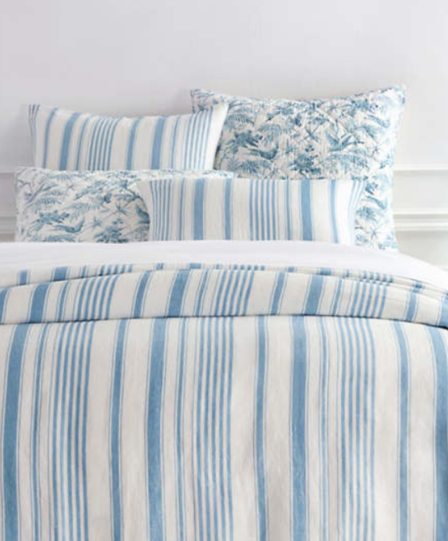 Pine Cone Hill Montebello stripe Asiatic bedding