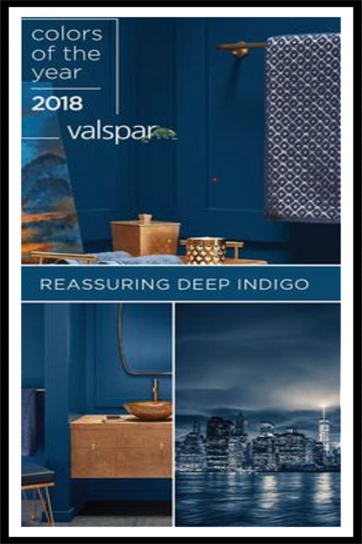 Reassuring Deep Indigo (Valspar) blue paint color inspiration. #reassuringdeepindigo #bestbluepaintcolors