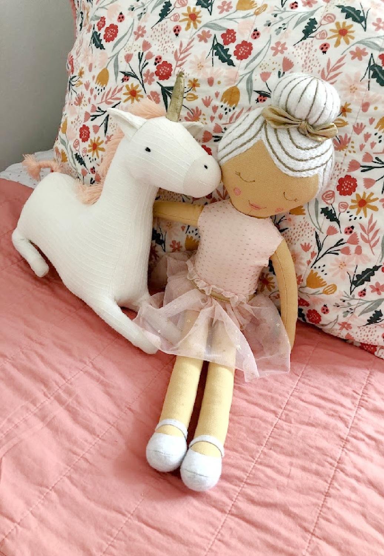 Ballerina and unicorn Pillowfort pillows - Hello Lovely Studio. #ballerinapillow #unicornpillow