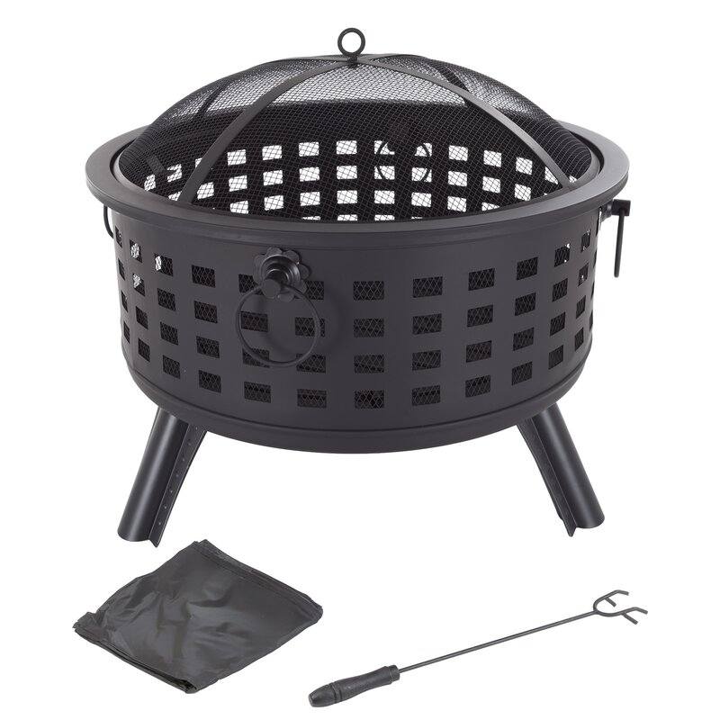 Janesville Steel Wood Burning Fire Pit from Wayfair. #firepits #patio #outdoor #woodburning