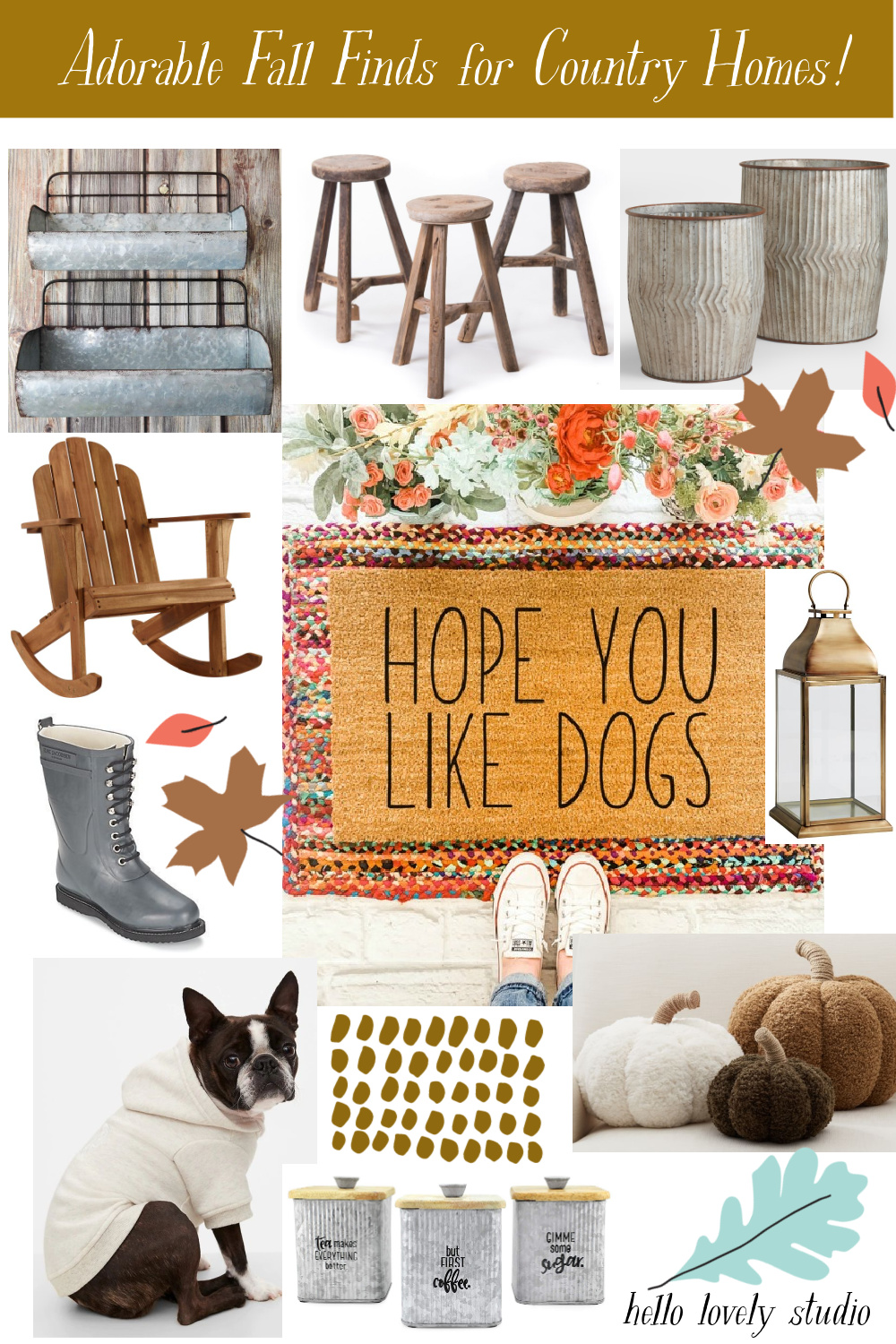 Adorable fall finds for country homes - Hello Lovely Studio. #falldecor #autumndecor #homedecor #countrydecorating #decoratingideas