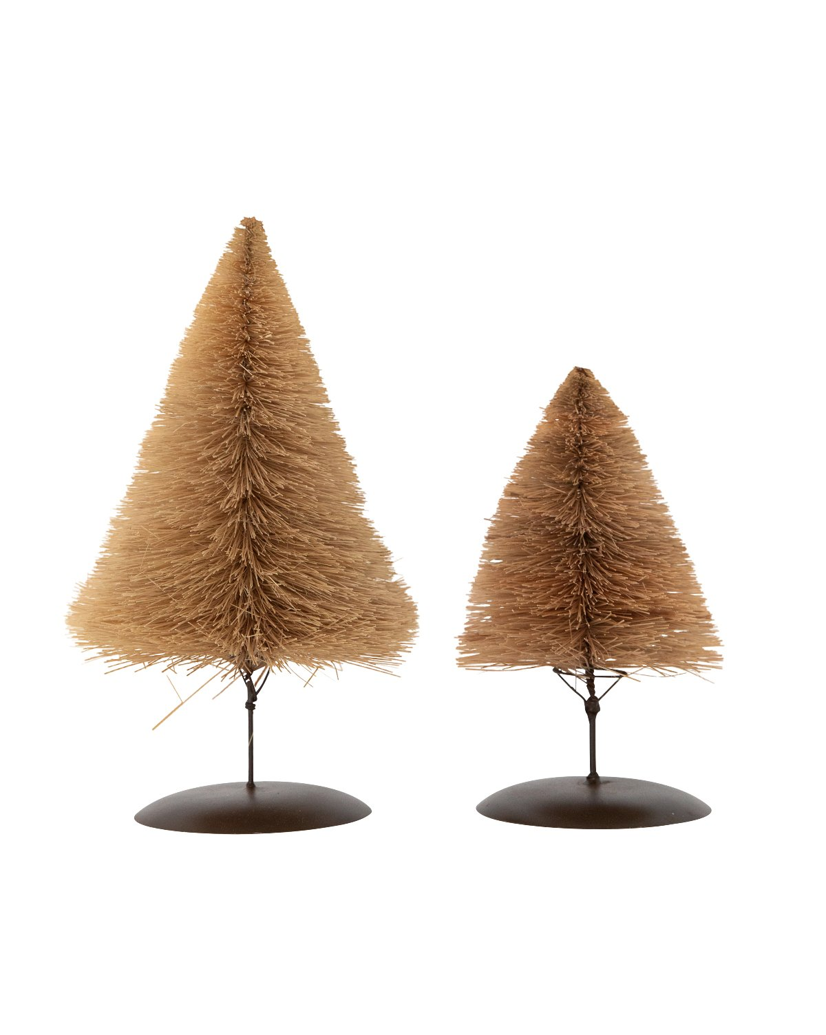 Bottle brush trees for the fireplace mantel - McGee & Co.