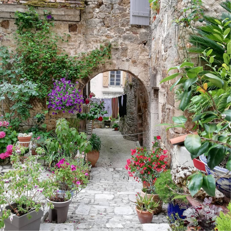 Gorgeous courtyard garden - @no.54. #frenchcountry #provence #frenchcourtyard #gardeninspiration #frenchcountryside