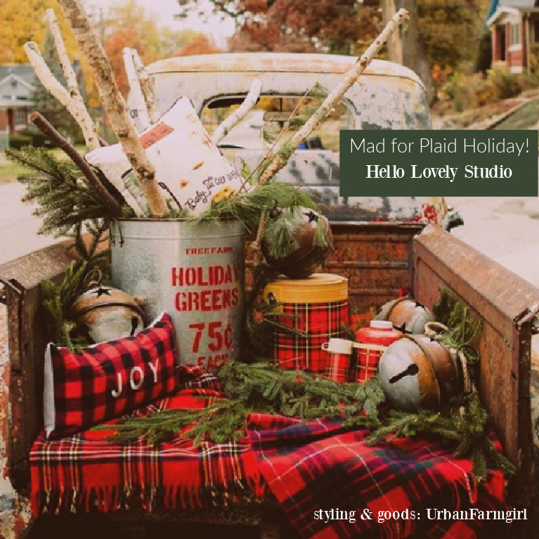 Maid for Plaid Holiday Decor banner - Hello Lovely Studio. Come explore resources and inspiration for Christmas decorating ideas! #plaidholiday #christmasdecor #holidaydecor #holidayhome #farmhousechristmas #plaiddecor
