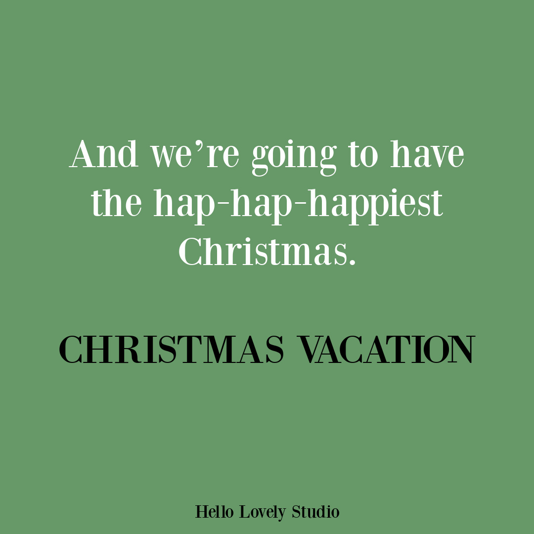 Funny holiday quote from Christmas Vacation Movie - Chevy Chase. #funnyquotes #moviequotes #christmasmovies
