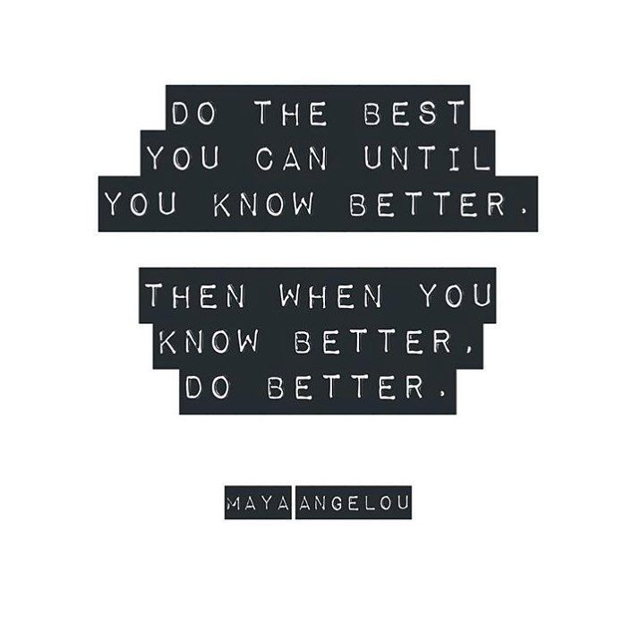 Maya Angelou quote about doing the best you can now. #mayaangelou #personalgrowth #inspirationalquotes #encouragementquotes #spiritualjourney