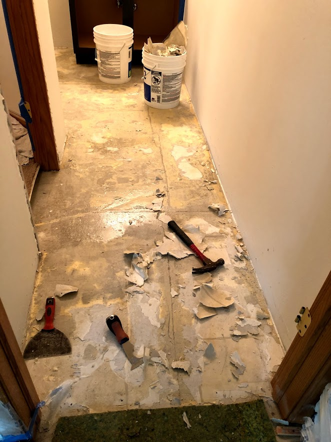 During the renovation of a condo, things often look worse before they get better!