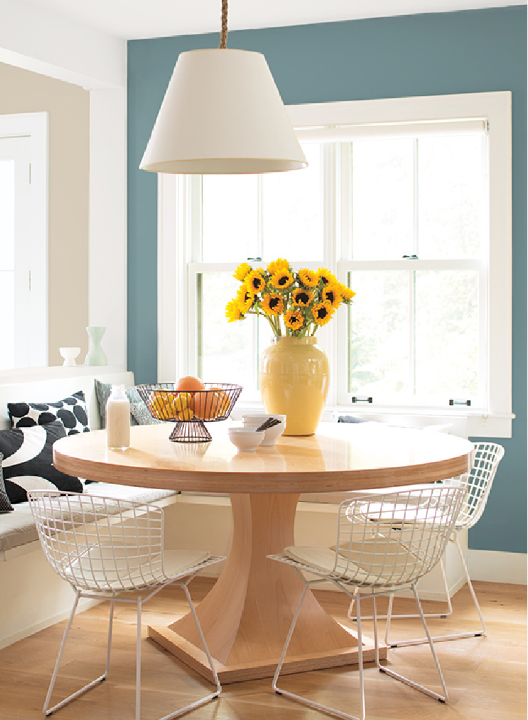 Aegean Teal (Benjamin Moore) paint color of the year 2021. #ageanteal #benjaminmooreaegeanteal #paintcolors
