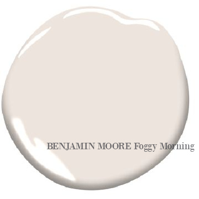 Foggy Morning (Benjamin Moore) neutral paint color swatch. Discover inspiring understated neutrals to try in your own home. #paintcolors #warmwhite #benjaminmoorefoggymorning
