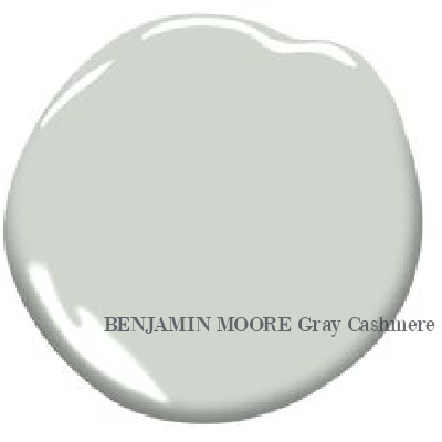 Gray Cashmere (Benjamin Moore) paint color swatch. Discover inspiring understated neutrals to try in your own home. #paintcolors #greypaints #benjaminmoorecashmeregray
