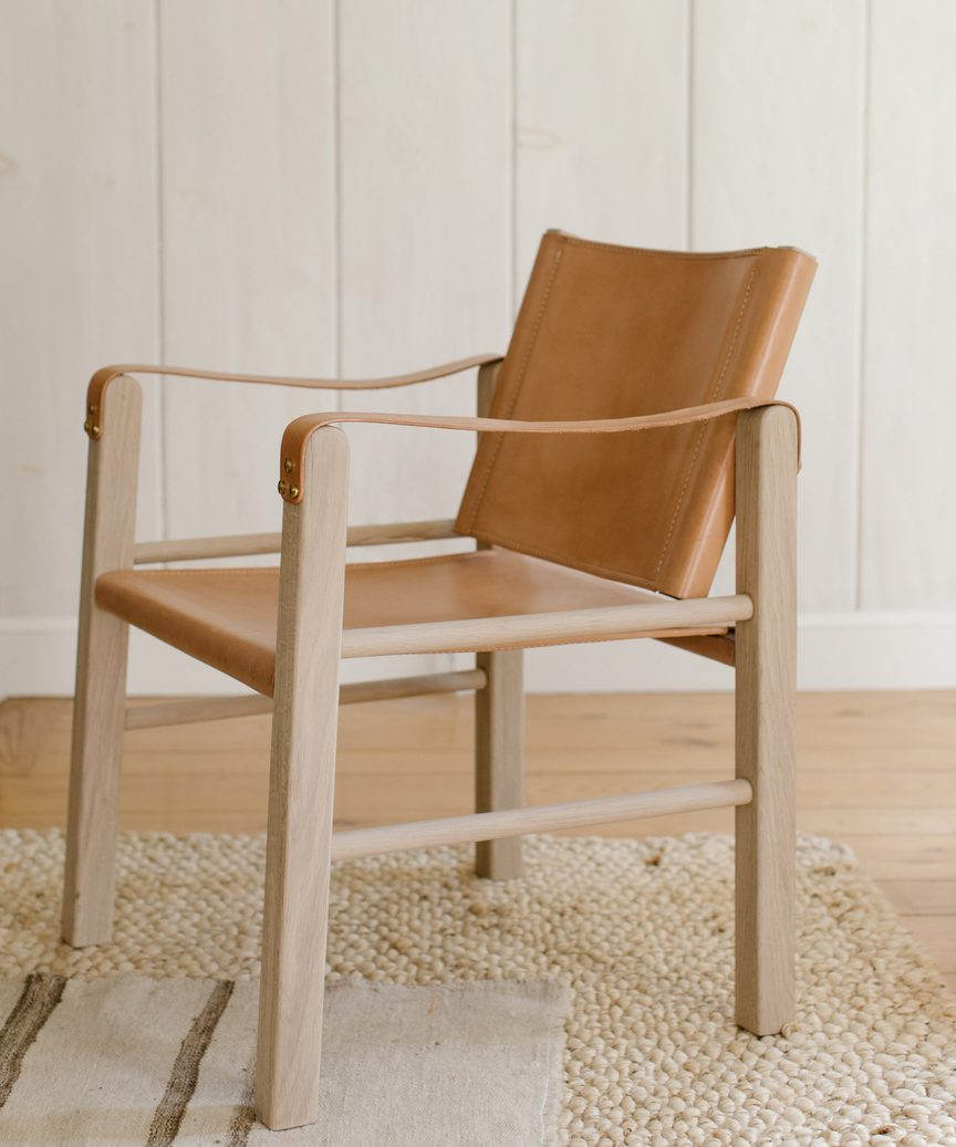 Jenni Kayne leather safari chair
