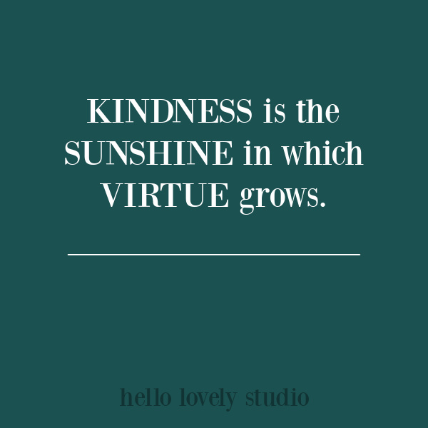 Inspirational quote about kindness on Hello Lovely Studio. #kindnessquotes
