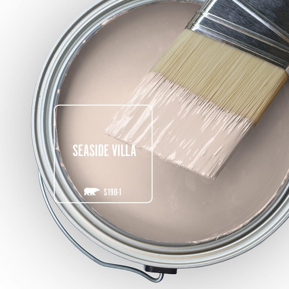 Seaside Villa (Behr) pink paint color for a sophisticated, warm cozy pink. Discover inspiring understated neutrals to try in your own home. #seasidevilla #behrseasidevilla #paintcolors #pinkpaint