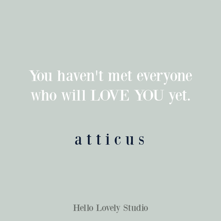 Atticus love quote on Hello Lovely. #quotes