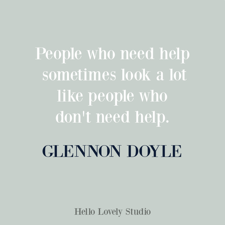 Glennon Doyle quote on Hello Lovely Studio. #glennondoyle #inspirationalquotes