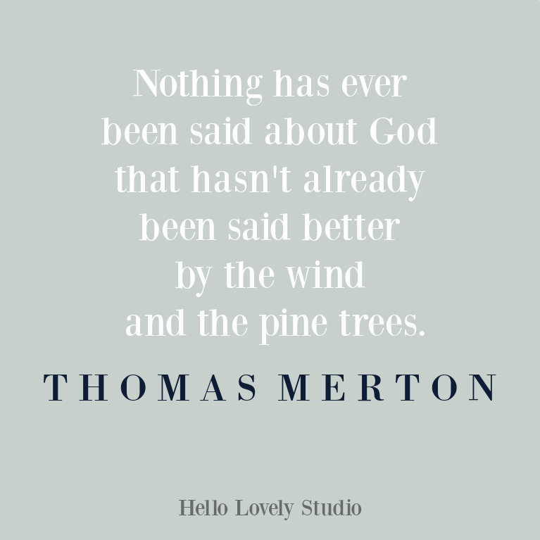 Thomas Merton inspirational quote on Hello Lovely Studio. #thomasmerton #inspirationalquotes #spirituality #christianity