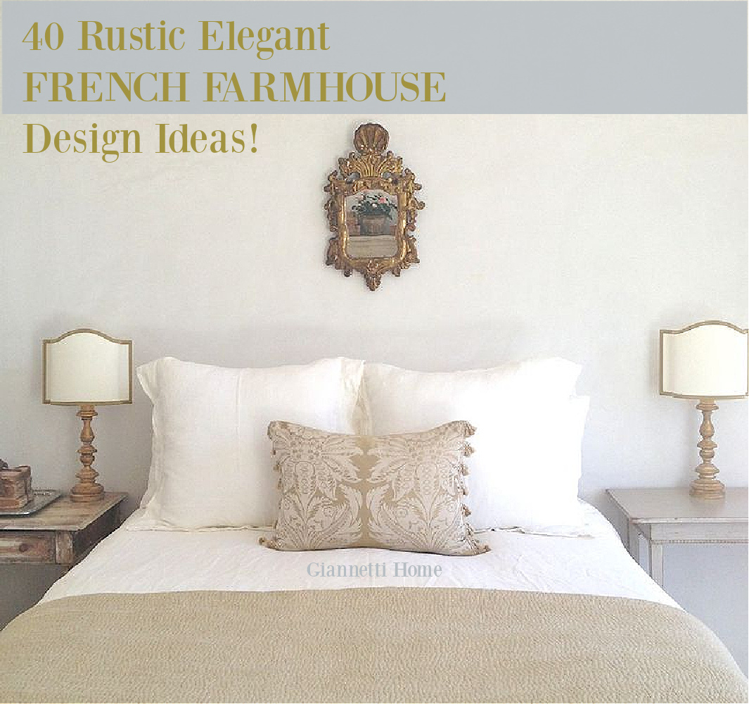 40 rustic elegant French farmhouse design ideas on Hello Lovely Studio. #interiordesign #frenchfarmhouse #frenchcountry #decorating