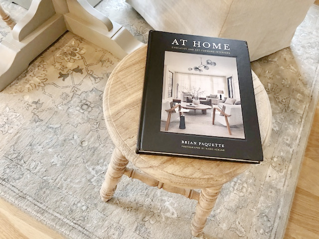 AT HOME book cover by Brian Paquette (Gibbs Smith, 2021) - Hello Lovely Studio.