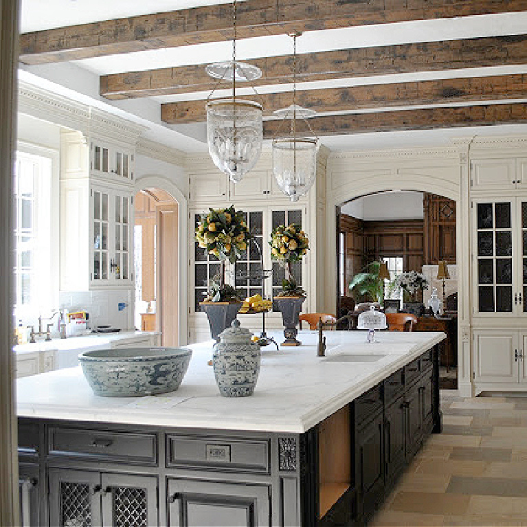 Image result for enchanted home Tina's French Country kitchen with blue and white