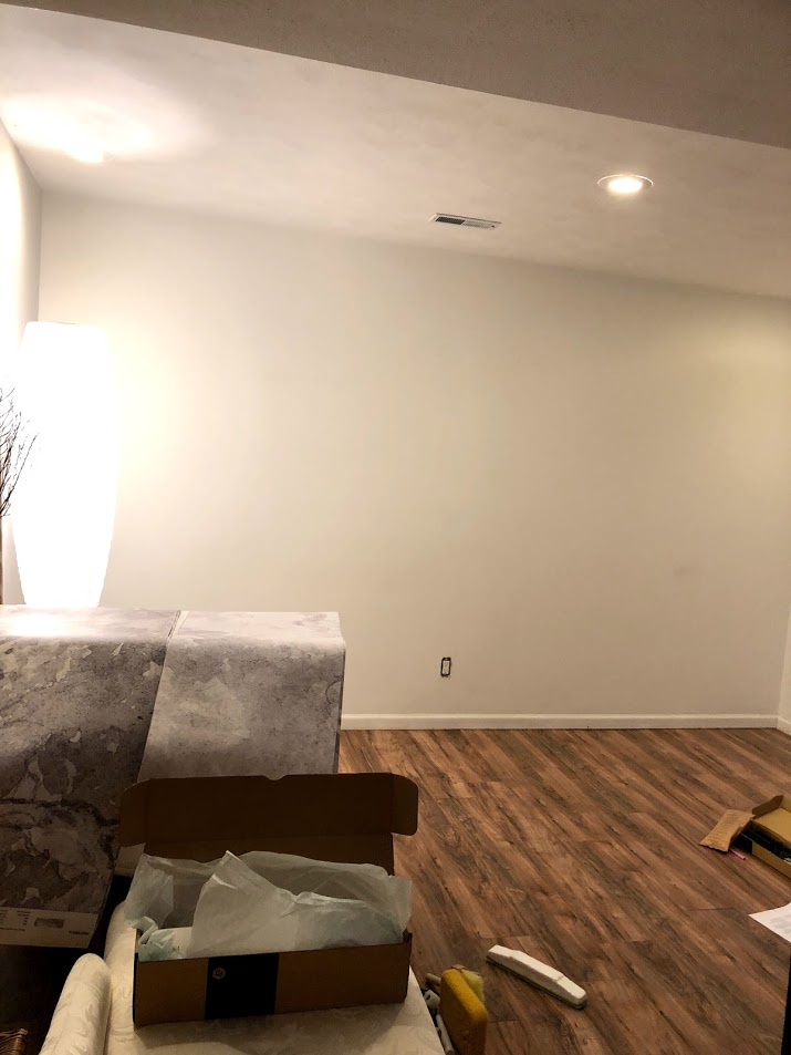 before - wall in bonus room