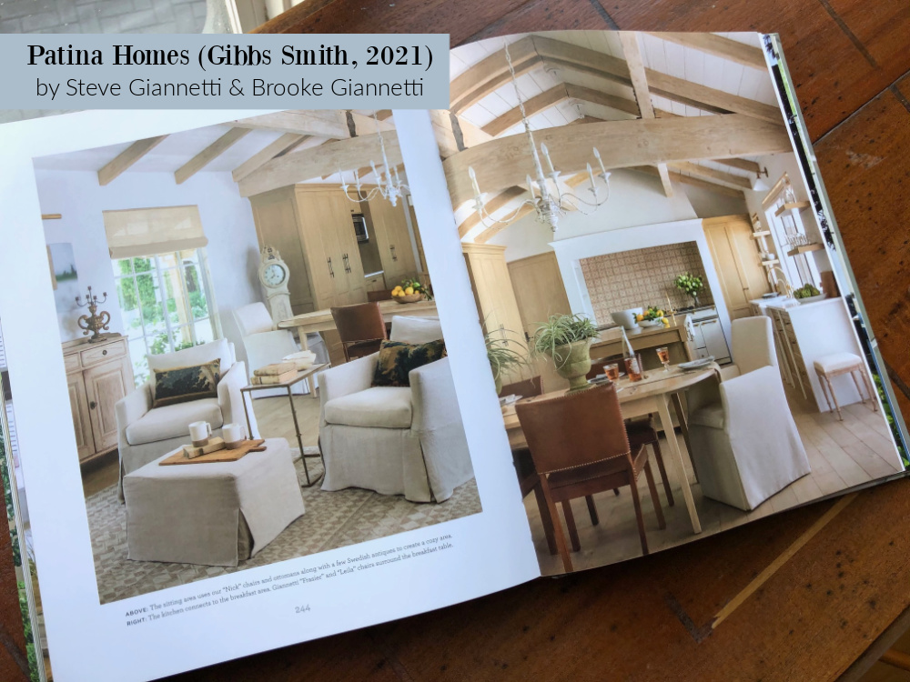 Giannetti designed Malibu home with European country style and white oak - see it in PATINA HOMES (Gibbs Smith, 2021) - reviewed by Hello Lovely Studio. #giannettihome #patinastyle #europeancountry