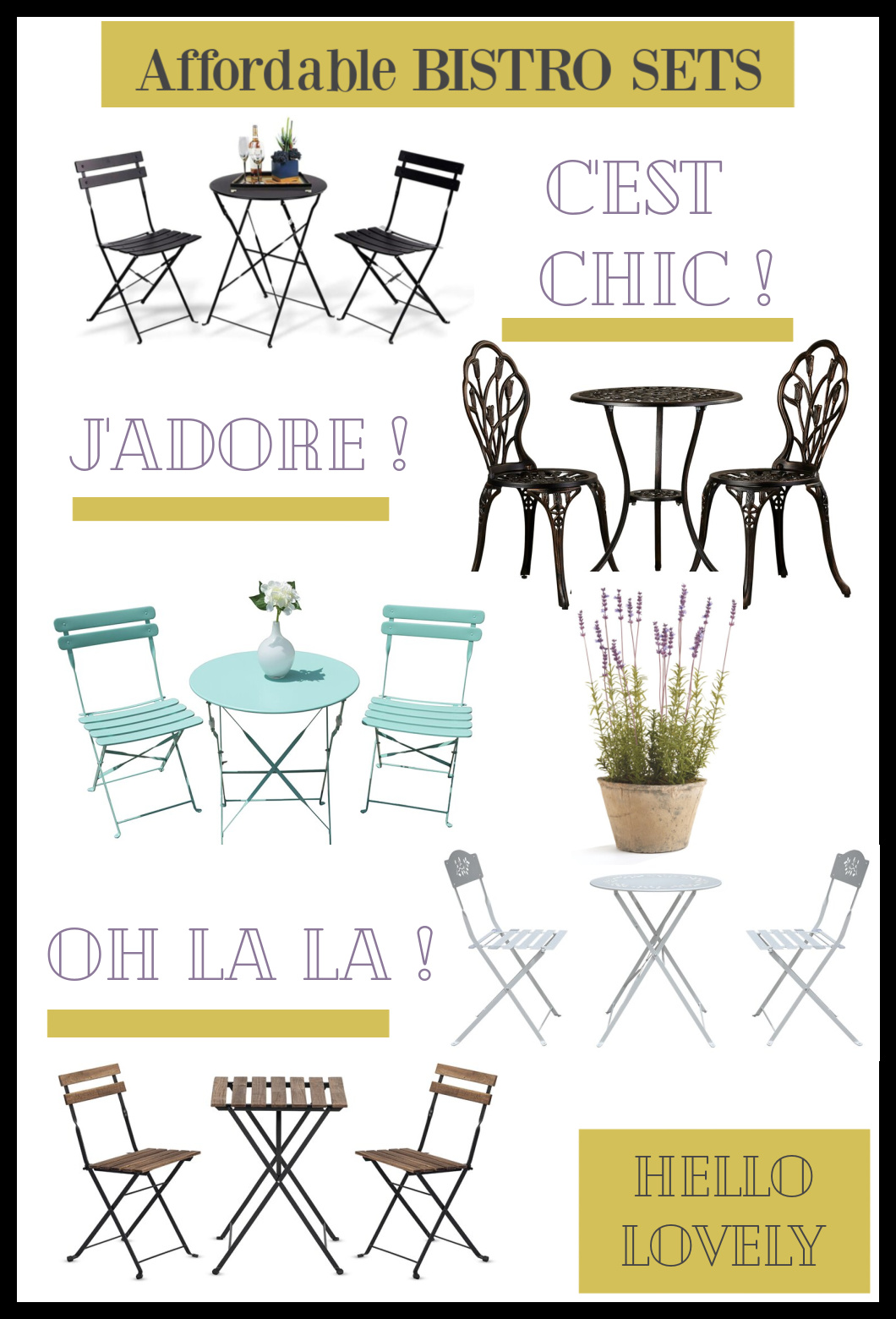 Affordable Bistro Sets on Hello Lovely Studio - come see these gorgeous possibilities for a small patio or deck!