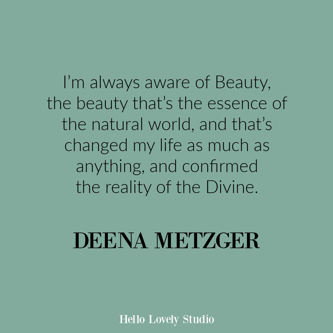 Inspirational quote from Deena Metzer on Hello Lovely Studio. #lifequotes #wisdomquotes #mindfulnessquote
