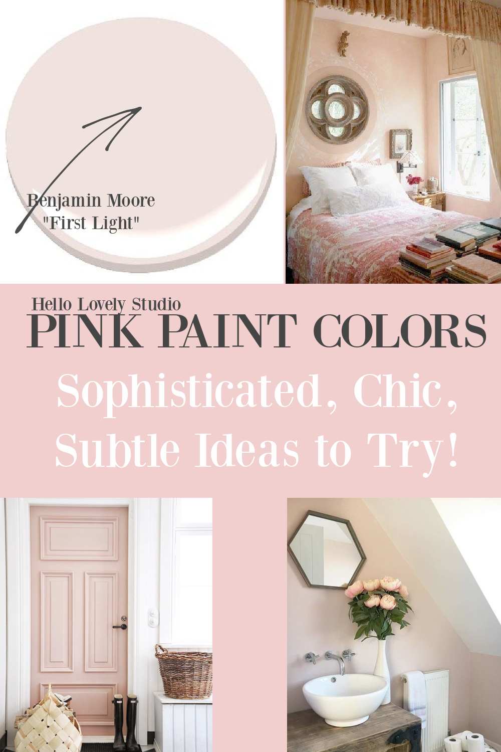 Best Pink Paint Colors Sophisticated, Chic, Subtle Ideas to Try - come get the details on Hello Lovely! #paintcolors #pinkpaint #blushpink