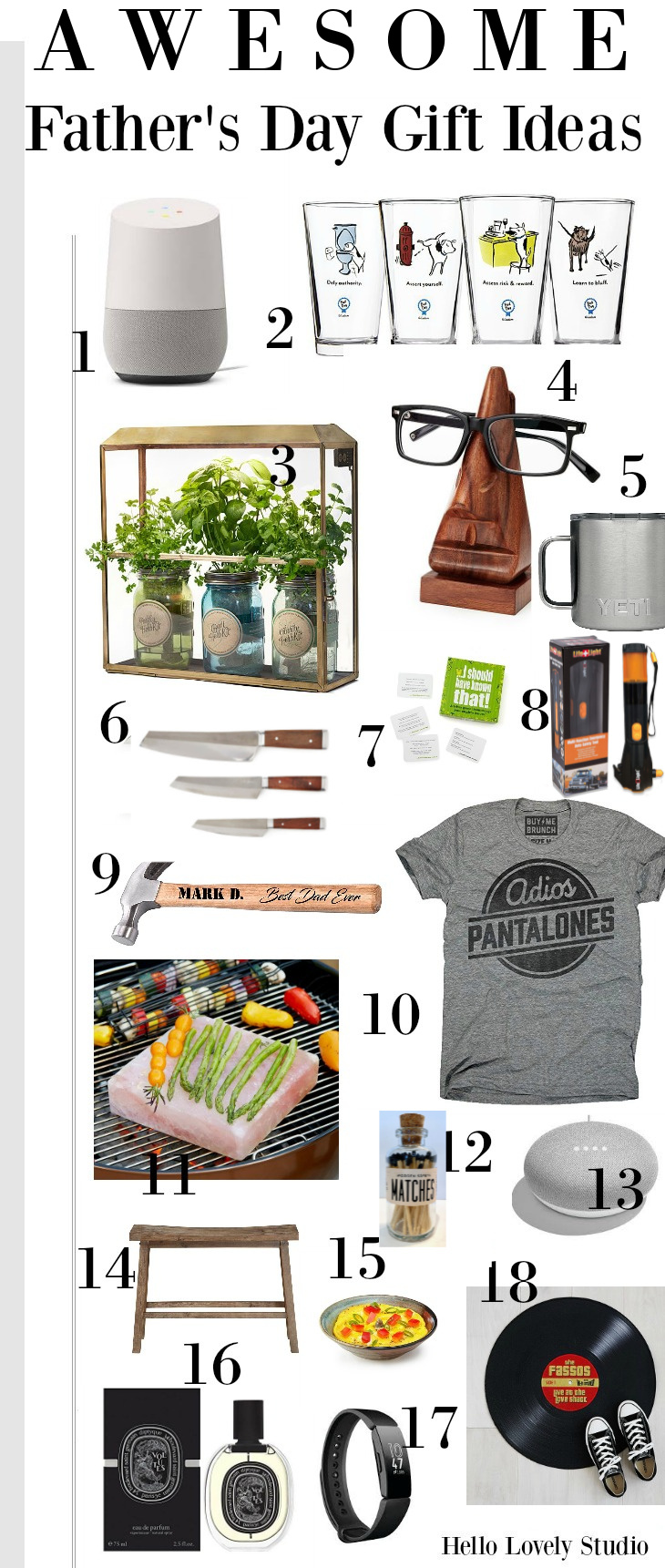Father's Day Gift Ideas on Hello Lovely. Come explore the most whimsical, personalized, and smart options for dad!