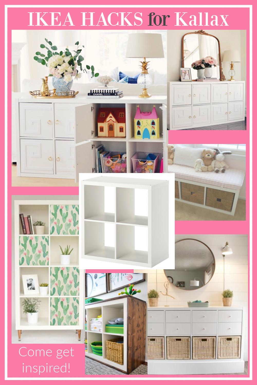 Ikea hacks for KALLAX come get inspired on Hello Lovely! #ikeahacks #kallax #cubestorage #diy