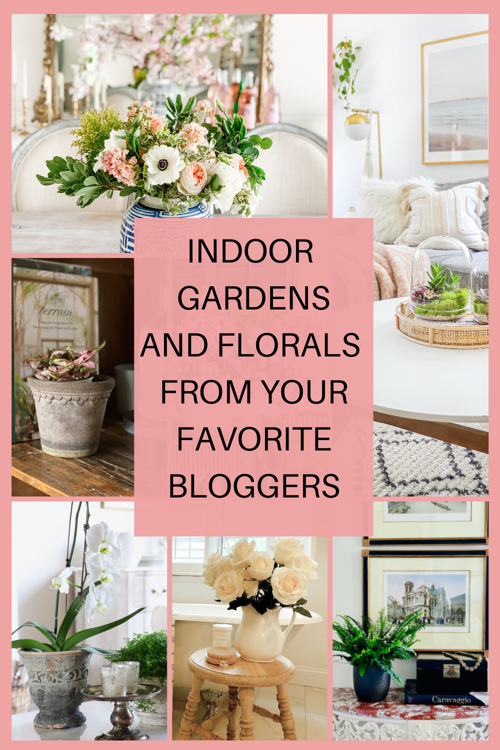 Indoor gardens and florals from your favorite bloggers - Hello Lovely Studio. #flowerdecor #florals #houseplants