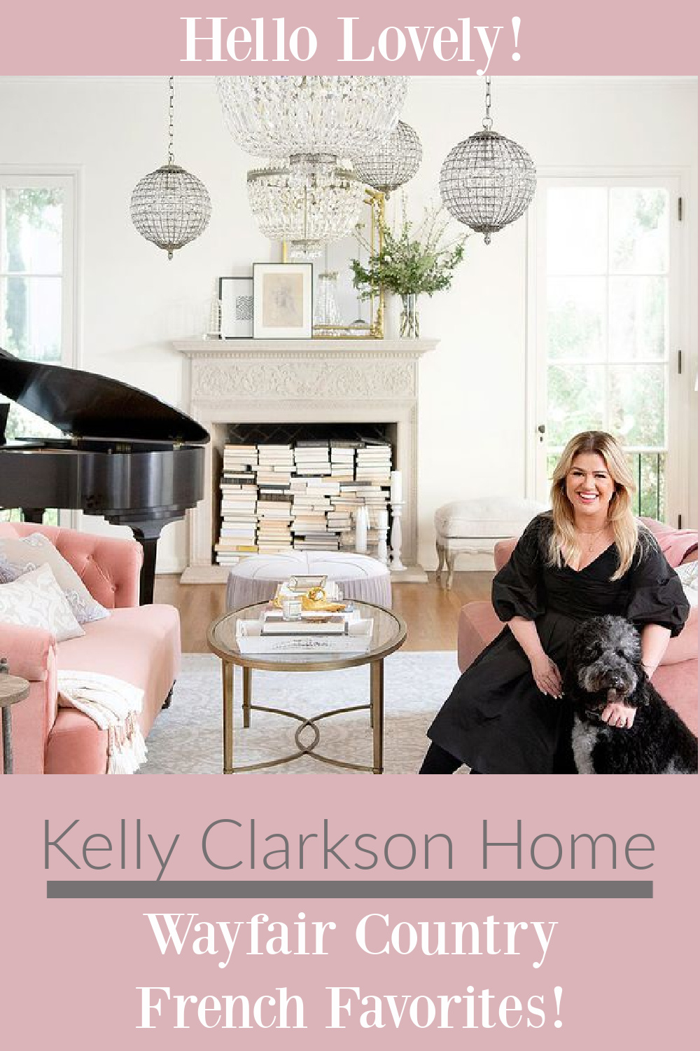 Kelly Clarkson Home Wayfair Country French Favorites on Hello Lovely! Come see Kelly's favorite furniture and decor finds you can score for your home. #frenchcountry #getthtelook #furniture