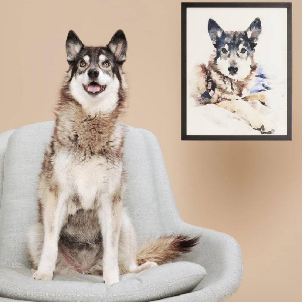 Pet portraits - custom made at Minted. #petportrait #petpainting #custompetportrait