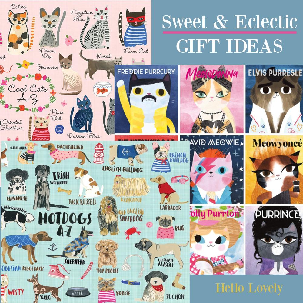 Sweet eclectic gift ideas on Hello Lovely Studio.