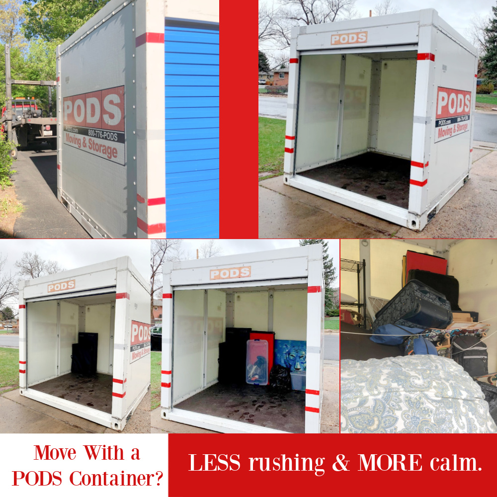 Move With a PODS Container? Less rushing & More calm - come see how relocating with a container helped us - Hello Lovely. #PODSconainer #relocation #movingtips