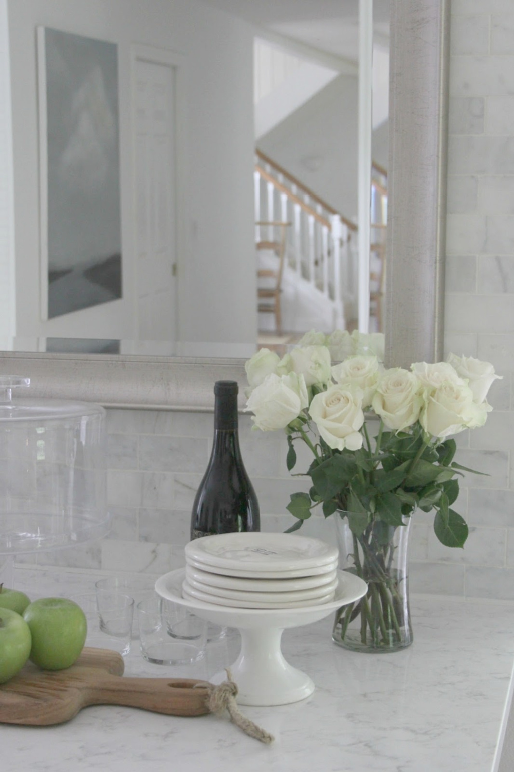Viatera quartz countertop - Minuet. European farmhouse style and French Nordic cottage decor in our fixer upper - Hello Lovely Studio. Come see the renovation photos in Before & After: European Country Style Fixer Upper.