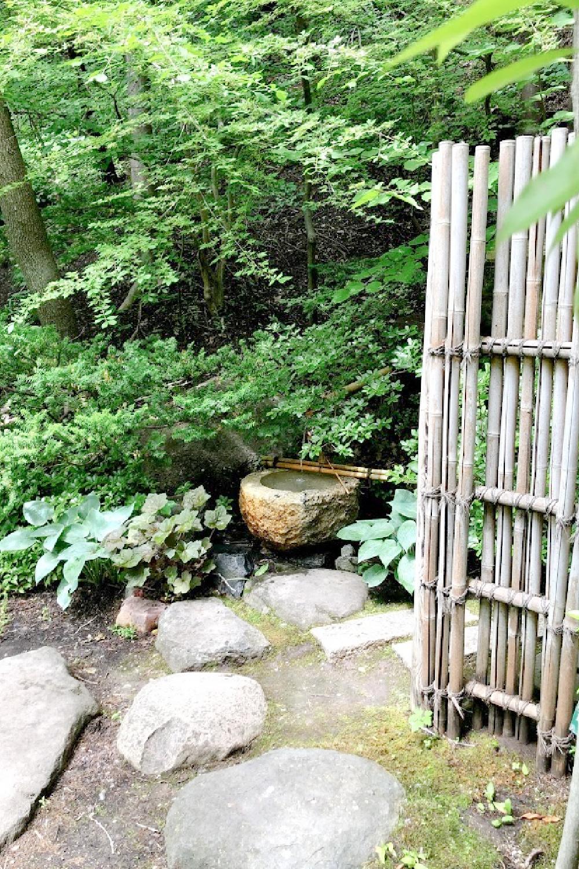 Lovely early June colors in a Japanese garden - Hello Lovely Studio.
