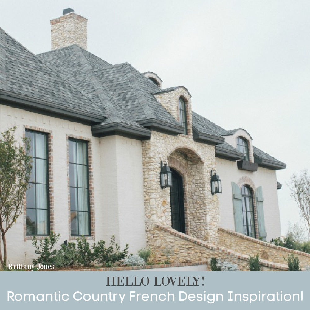 Romantic Country French Design Inspiration - come see more of this gorgeous new build with interiors by Brittany Jones.