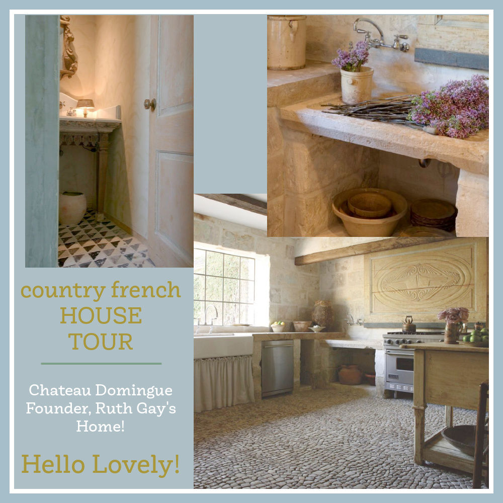 Country French House Tour - come see Chateau Domingue's Ruth Gay's stunning Houston home on Hello Lovely!
