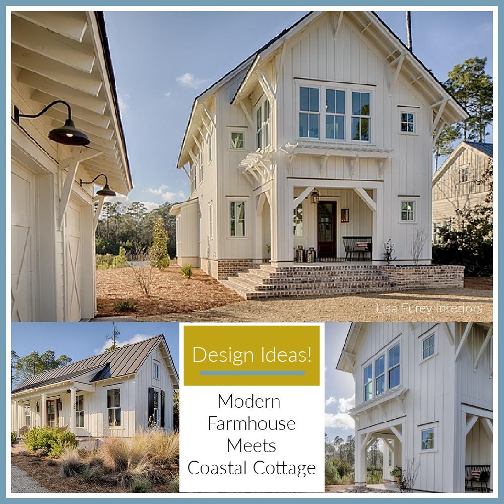 Design ideas: modern farmhouse meets coastal cottage (Lisa Furey) decor and resources on Hello Lovely.